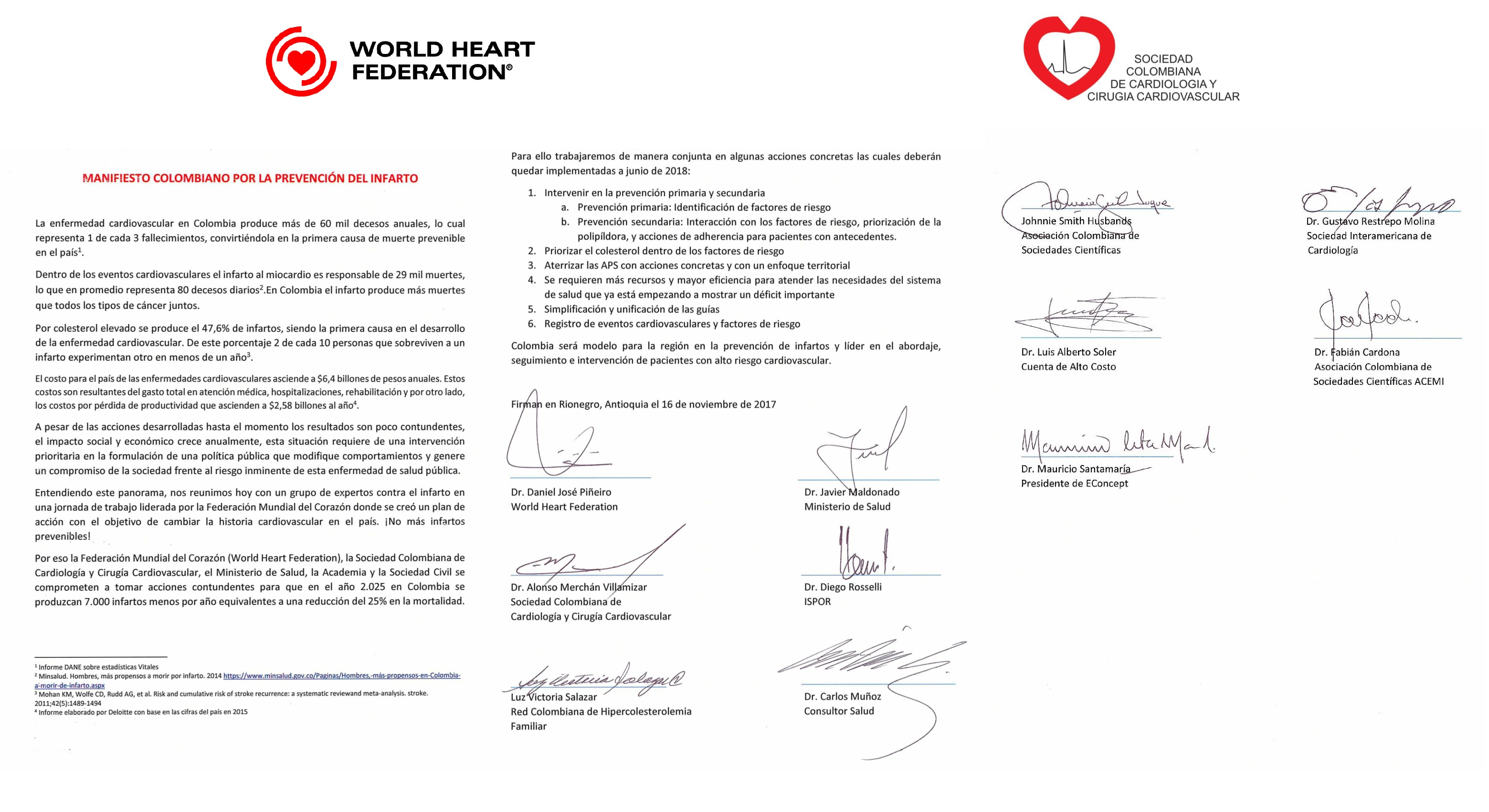WHF and Colombian Society of Cardiology and Cardiovascular Surgery ...
