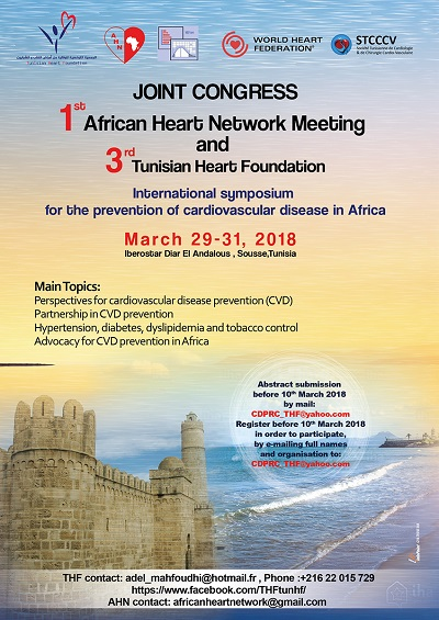 1st African Heart Network Meeting will be held in Tunisia